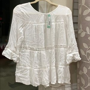white pattern top